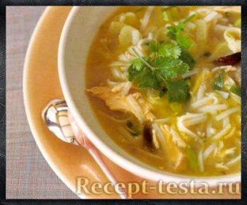 Суп с фенхелем и лапшой