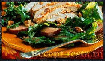 Салат с куриным филе и грушей