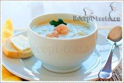 Суп-пюре из креветок