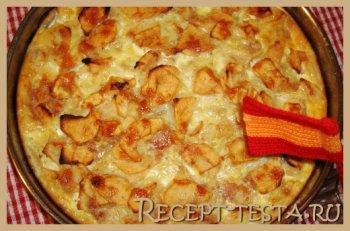 Грушевый пирог с абрикосовым джемом